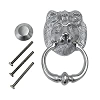 Lion Head Door Knocker Satin Chrome Heavy