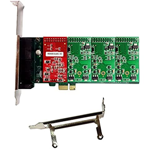 Asterisk Card AXE400PL with 1 FXO+3 FXS Ports,PCI-E Connector,with Low Profile for 2U