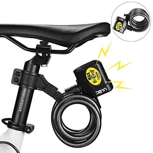TAOtTAO Fahrradschloss Fahrradalarm Fahrrad Fahrrad Motorrad Kabel Diebstahl Alarmschloss Sicherheitsschlüssel Sicherheit -