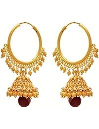 JFL - Traditional Ethnic One Gram Gold Plated Designer Jhumki Earring For Women & Girls.