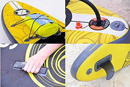 """Zray X1 All Around Inflatable Stand Up Paddle Board, 9'9"""", Yellow"""