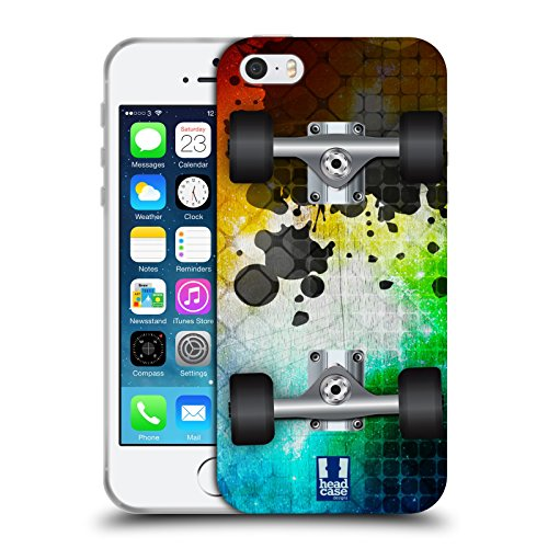 Head Case Designs Mosaic Skateboards Soft Gel Case for Apple iPhone 5 / 5s / SE