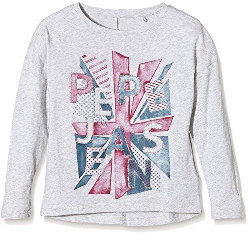 pepe-jeans-cecilia-t-shirt-bambina-grigio-lt-grey-marl-913-10-anni-taglia-produttore-10