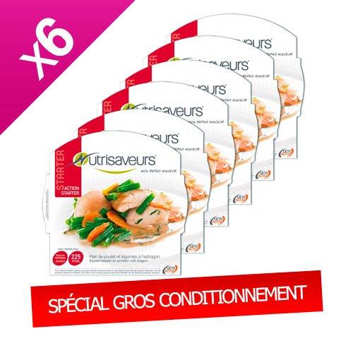 Nutrisaveurs - Filet de poulet et légumes à l'estragon - Starter Nutrisaveurs - CARTON ECO X 6