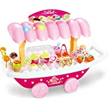 Webby Ice Cream Sweet Shopping Cart With Lights And Music