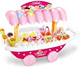 Webby Ice Cream Sweet Shopping Cart with Lights and Music (Multi-Color, 37 Pieces)