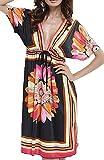 UMIPUBO Vestido de Playa Mujer Suelto Pareos Playa V-Cuello Camisolas y Pareos Bikini Traje de Baño Cover up...