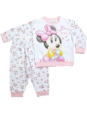 Minnie Mouse Kollektion 2017 Schlafanzug 74 80 86 92 98 Mädchen Pyjama Disney Neu Maus Creme