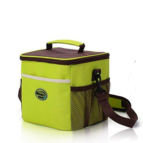 Impermeabile grande borsa termica per il pranzo con cerniera e cinghia tracolla regolabile