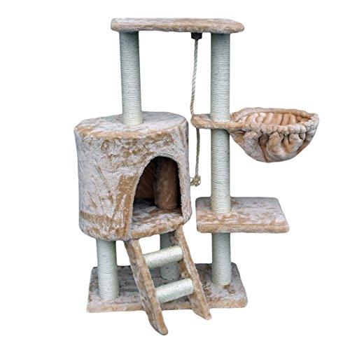 LuckyPet Rascador para gato Arbor Juguete Beige Afilador Mascotas Anim