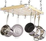 "Master Class Wooden Ceiling-Mounted Hanging Pan Rack, 61 x 51 cm (24"" x 20"")"