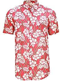 Hommes Soulstar Tiki2 Hibiscus & Imprimer Des Vagues Chemise Hawaïenne
