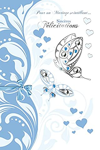 Eurek'art Adulte M310 Carte postale heureux mariage avec Enveloppe