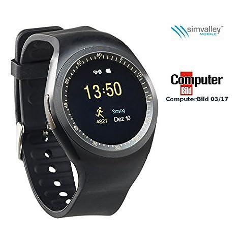 simvalley MOBILE Uhrenhandy: 2in1-Uhren-Handy & Smartwatch für Android, rundes Display, Bluetooth (Smartwatch mit