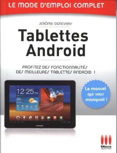 Tablettes Android par Jérôme Genevray