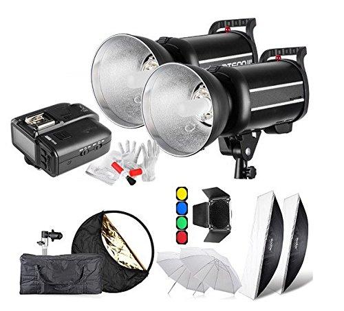 Preisvergleich Produktbild Gowe 600Ws GN761/8000s HSS Studio Flash Strobe Beleuchtung Kit & x1t Transmitter + Softbox Scheunentor + Wabenblende + Filter mit X1C für Canon
