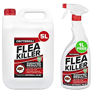 CritterKill 5+1L FREE Professional Flea Killer Spray | Guaranteed Results | Used by Pest Controllers