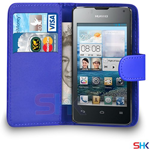 huawei-ascend-y300-blue-pu-leather-wallet-flip-case-cover-pouch-by-shukan