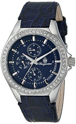 Burgmeister Armbanduhr für Damen mit Analog Anzeige, Quarz-Uhr und Lederarmband - Wasserdichte Damenuhr mit zeitlosem, schickem Design - klassische, elegante Uhr für Frauen - BM529-133 Tampa