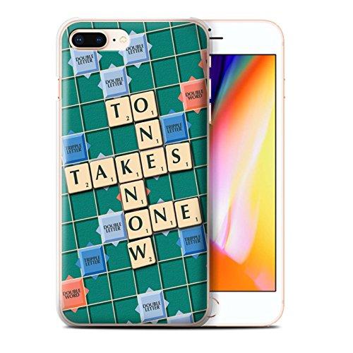 Stuff4 Hülle / Case für Apple iPhone 8 Plus / Süße Rache Muster / Scrabble Worte Kollektion Kennen