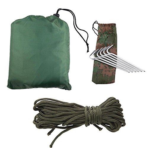 Bâche de Camping résistante aux déchirures imperméable pour Tout hamac Parfait par Tout Temps de Couverture de Tente