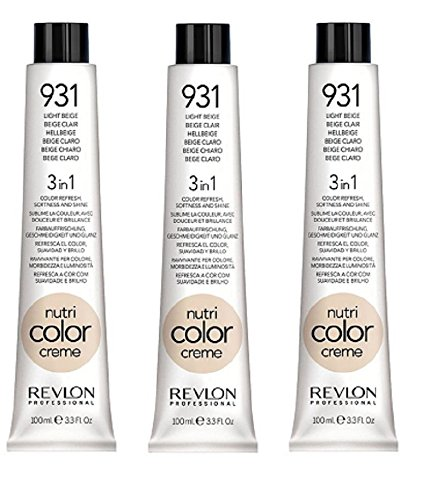 3er Set Revlon Nutri Color Creme Tube 100 ml 931-hellbeige