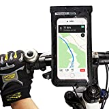 FlexDin Fahrrad Handyhalterung Wasserdicht Lenkertasche Handy Tasche mit Kamerafenster für iPhone 7 Plus/Android bis zu 6.0 Zoll Smartphone, Schwarz