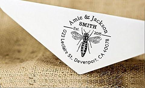 Personalized Wedding Rubber Address Stamp Custom Self Inking Return Address Stamp Gift