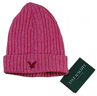 Lyle & Scott Heritage Rib Beanie Hat Pink