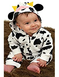 44d71b06dc0 Cow Baby Romper Outfit for Boys or Girls