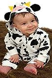 Pelele para bebé de Baby Moo's, diseño de vaca; disfraz de bebé, regalo ideal para niñas o niños multicolor Black, White Talla:0-3 Meses