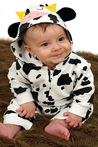Niedliche Baby Kuh Einteiler/Baby Kostüm/Kuh Baby Kleidung Baby Geschenkidee für Jungen oder Mädchen von Baby Moo (0 6 Monate Kuh Kostüm)