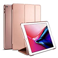 Spigen Apple iPad 9.7 inch 2018/2017 Smart Fold cover/case - Rose Gold with Auto Sleep and Wake function