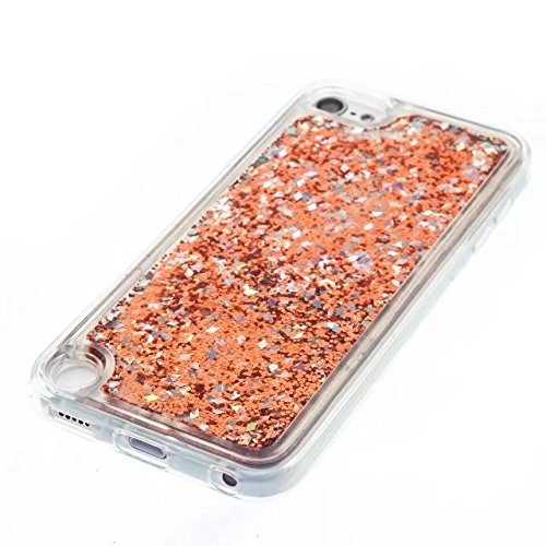 Coque iPhone 7, flottant Liquidee flottant de luxe Bling Glitter Sparkle Case Cover pour iPhone 7 4.7inch 4# Touch 6