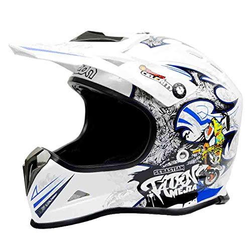 Professionelle Off-Road Motorradhelm Jugendliche Erwachsene Half Face Motorradhelme mit Krempe Radfahren Motocross Helm Moto Sicherheit Capas