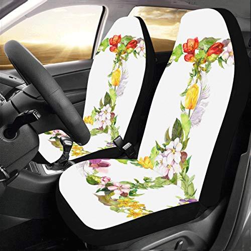 n benutzerdefinierte neue universal fit auto drive autositzbezüge schutzfolie für frauen automobil jeep lkw suv fahrzeug vollen satz zubehör für erwachsene baby (set von 2 vorne) ()