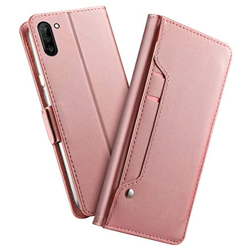 xianyuepengbaihuosh for Case Compatible with Samsung Galaxy Note 10 Case, [Extra Card Slot] [Wallet Case] PU Leather TPU Casing Schutz [Drop Protection] Cover for Case Compatible with -