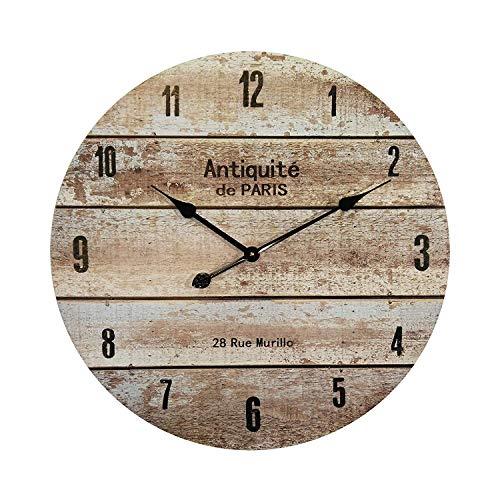 Mobili rebecca orologio da muro orologi da decorazione mdf stile vintage tondo diametro 60 cm (cod. re6138)