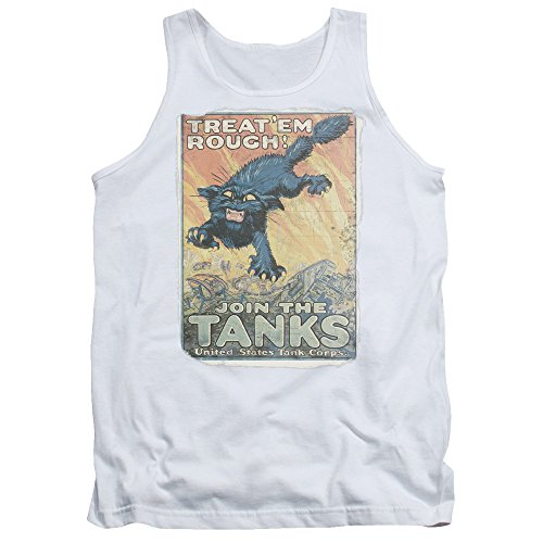 Army - Herren-Treat sie rau Tank Top White