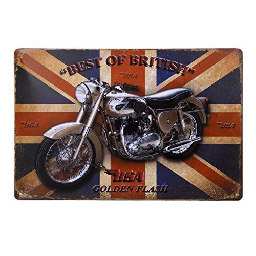 Vintage Poster Moto Metallo Arredo Murale Per Pub Bar Cafe Casa 20x30cm