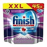 Finish Quantum mit Glanz- und Glasschutz, Spülmaschinentabs, 45 Tabs