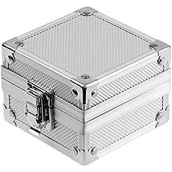 INFANTRY® Silber Aluminium Uhrenbox Kissen Kasten Box Kisten Ausstellungsstand Geschenke Gift Boxen Mit Verschluss