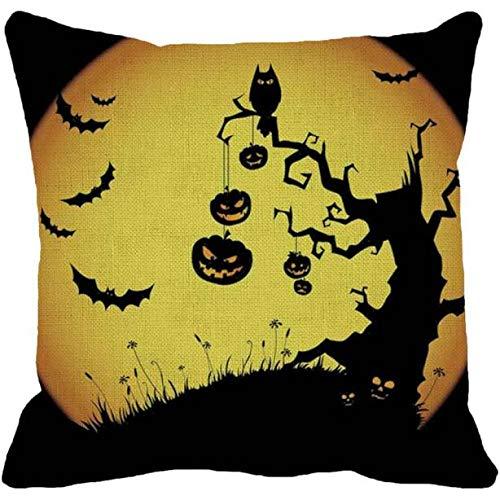 FeiBeauty Bett Sofa Supplies Platz Leinen Kissenbezug Kopfkissenbezug Home Halloween Kürbis Smiley Kissen Kissen Kissenbezug (Kissen Nicht Im Lieferumfang Enthalten)