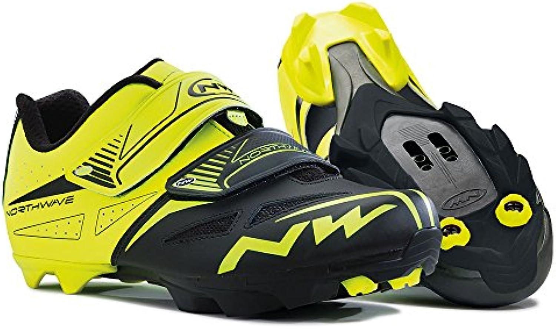 Northwave NW Chaussures Spike Evo Jaune Fluo-Noir Fluo-Noir Fluo-Noir  47 632a3d
