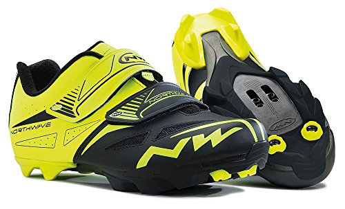 Northwave NW scarpe Spike EVO giallo fluo-black 45