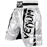 Venum Elite Pantalones Cortos de Boxeo, Hombre, Blanco/Negro, XS