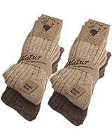 4 Paar BRUBAKER Alpaka Socken sehr dick flauschig und warm - reine Alpakawolle