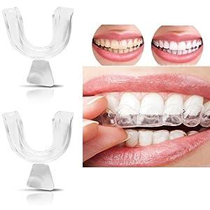 Ddfly 4 stücke Silikon Nacht Zahnschutz Zahnaufhellung Dental Tray für Zähne Clenching Schleifen Dental Bite Schlafmittel