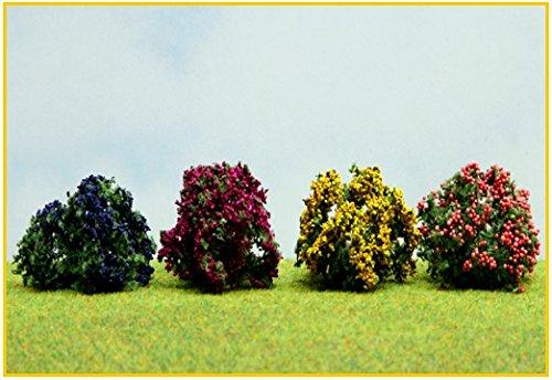 4-arbusti-fioriti-giallo-blu-lilla-melo-35-cm-er-decor-er2307-