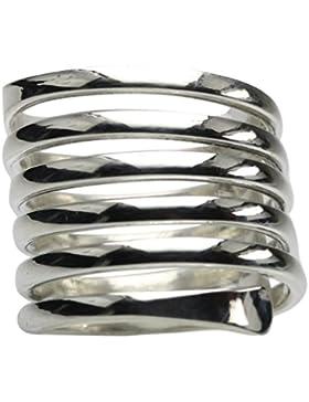 Feiner Spiralring aus 925er Sterlingsilber